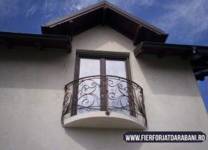 balcon fier forjat Darabani, balustrade balcon, realizare elemente fier forjat