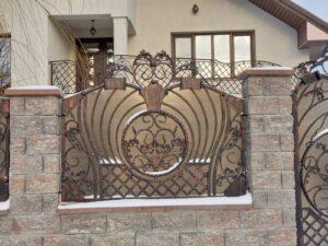 Gard fier forjat Botosani